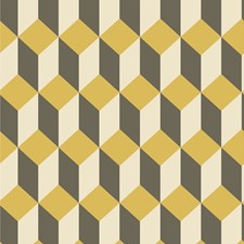 Yellow and Black Print Wallcovering by Cole & Son